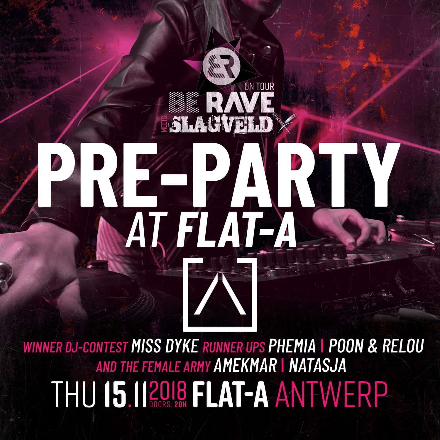 Pre-Party Be Rave & Slagveld Female Techno Army
