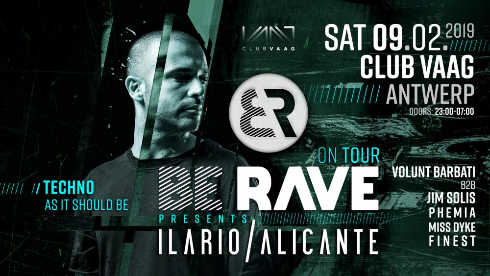 Be Rave presents Ilario Alicante