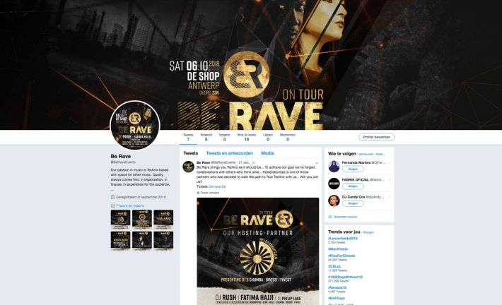 Be Rave on Twitter