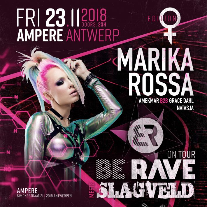 NEW event: Be Rave & Slagveld - Female Army with Marika Rossa