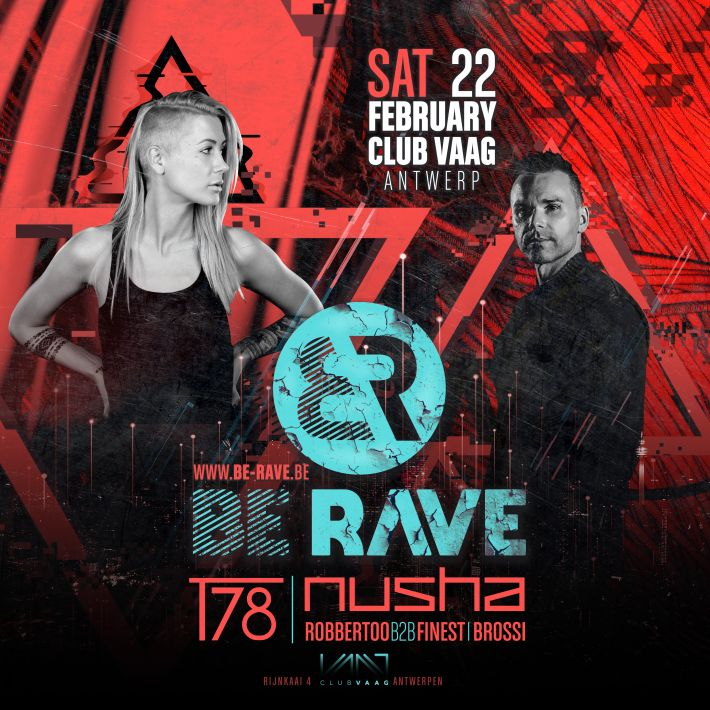 Next event: Be Rave presents Nusha and T78 at Club Vaag