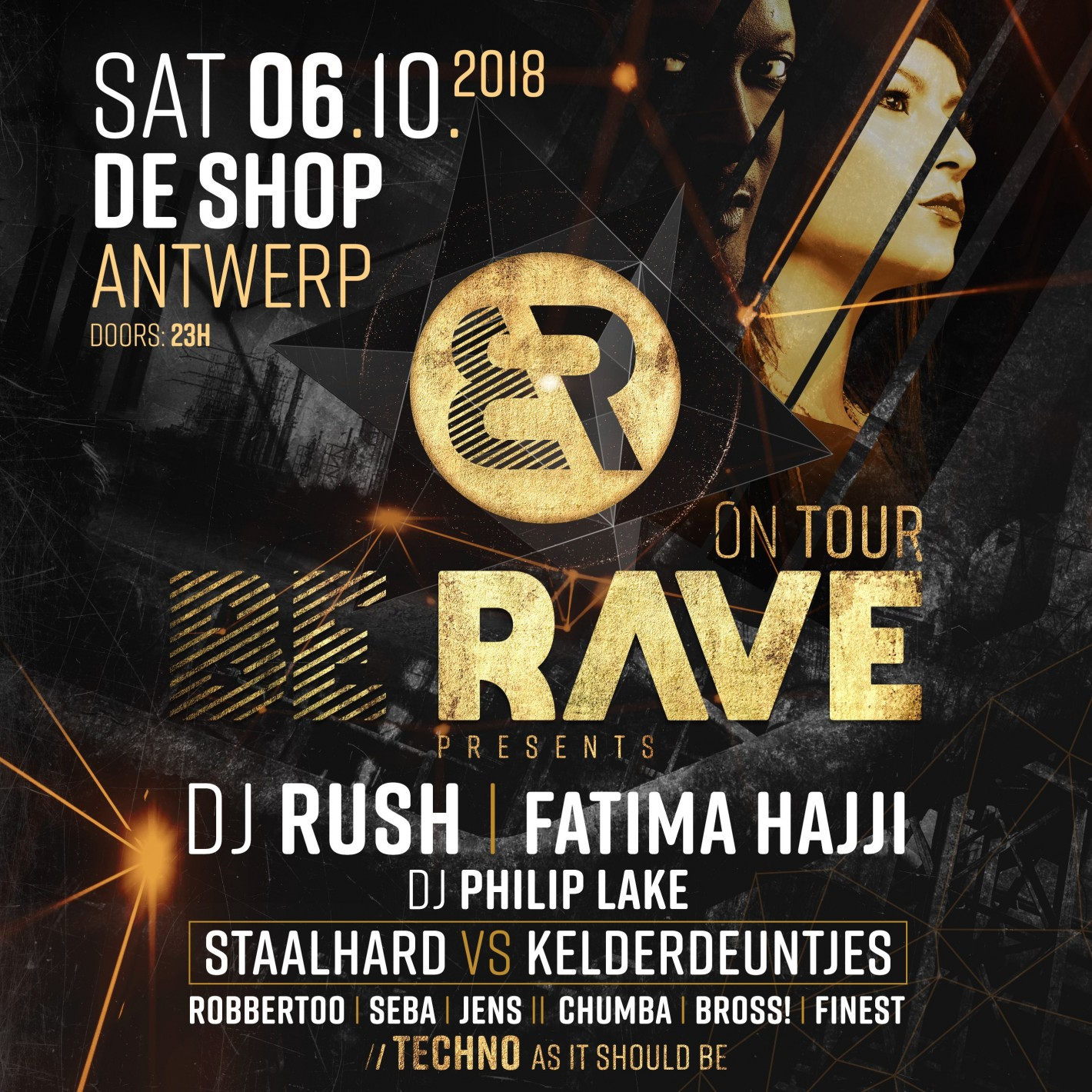 Be Rave presents Dj Rush and Fatima Hajji